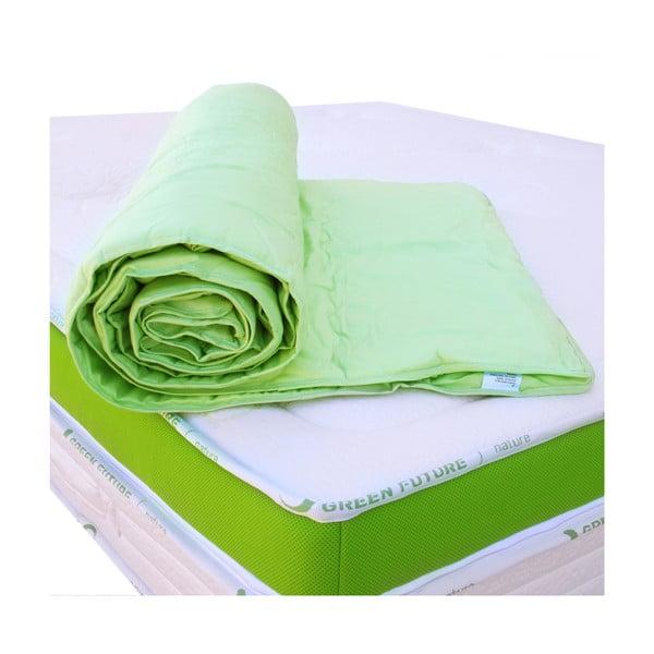 Zelená ochranná podložka na matraci s bambusovými vlákny Nature Green Future,180x200cm