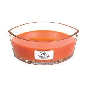 Lumânare parfumată WoodWick, aromă de citrice și floare de mandarin, 80 ore