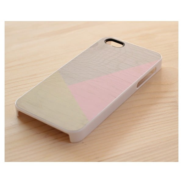 Obal na iPhone 4/4S, Pastel Pink Geometric wood/white