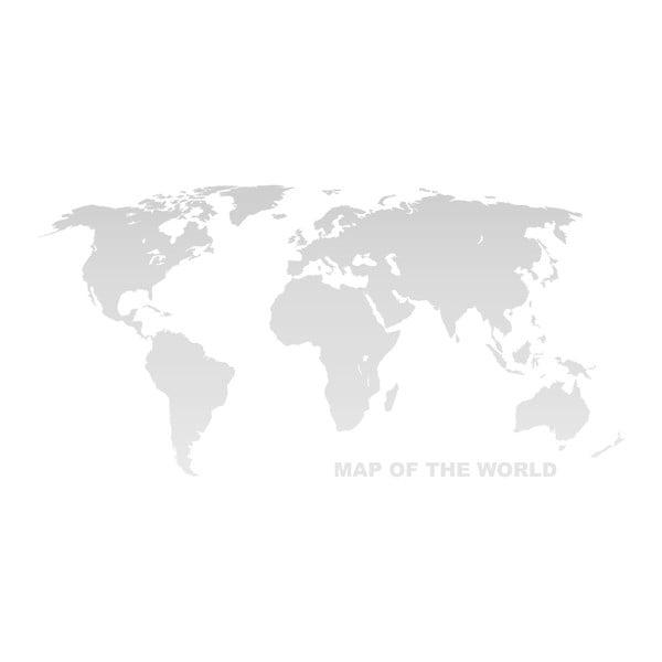 Nástěnná mapa světa na plátně Tomasucci World, 80x160cm