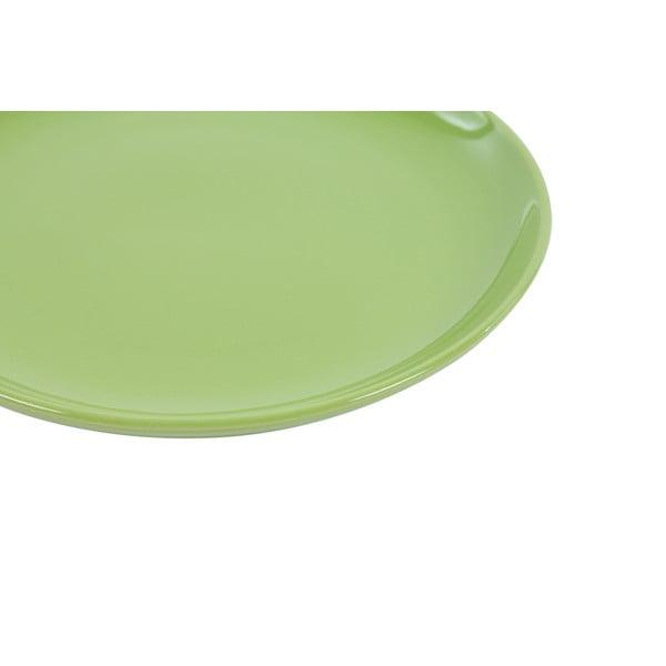 Sada 6 dezertních talířů Kaleidos 21 cm, zelená