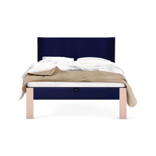 Růžový rám postele muun, 200 x 180 cm