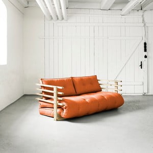 Canapea extensibilă Karup Funk Natural/Orange