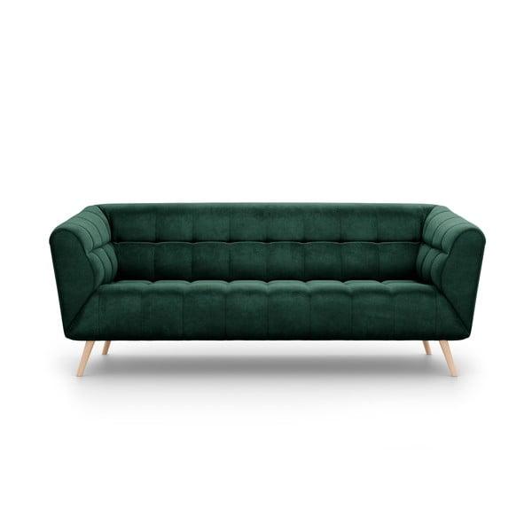 Étoile sötétzöld bársony kanapé, 210 cm - Interieurs 86