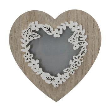 Ramă foto Mauro Ferreti Lolly, 9 x 9 cm, formă de inimă imagine