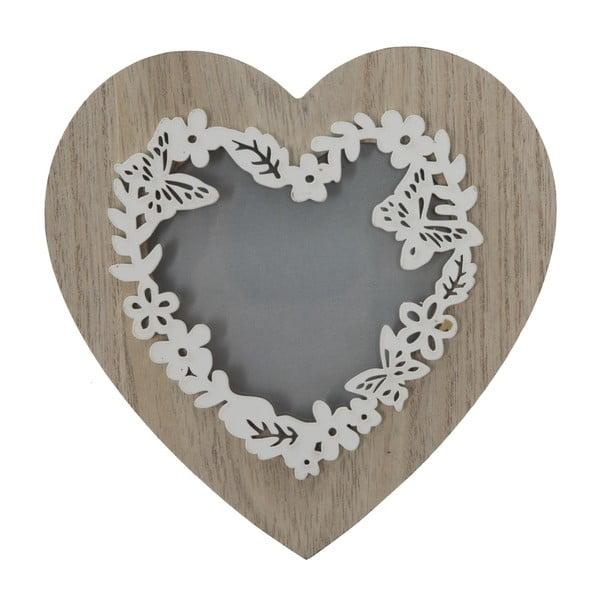 Lolly szív alakú képkeret, kép mérete 9 x 9 cm - Mauro Ferretti