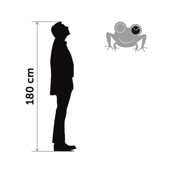 Hodiny se samolepkou Frog