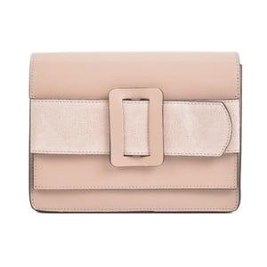 Růžová kožená kabelka Sofia Cardoni Runa