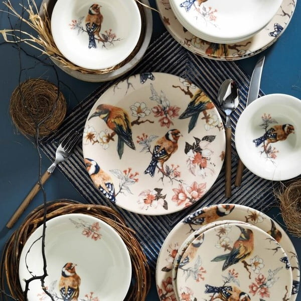 24-częściowy zestaw talerzy porcelanowych Kutahya Pateo