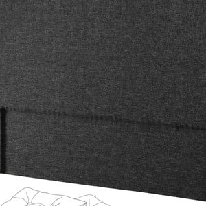 Černé čelo postele Novative Valse, 180 x 118 cm