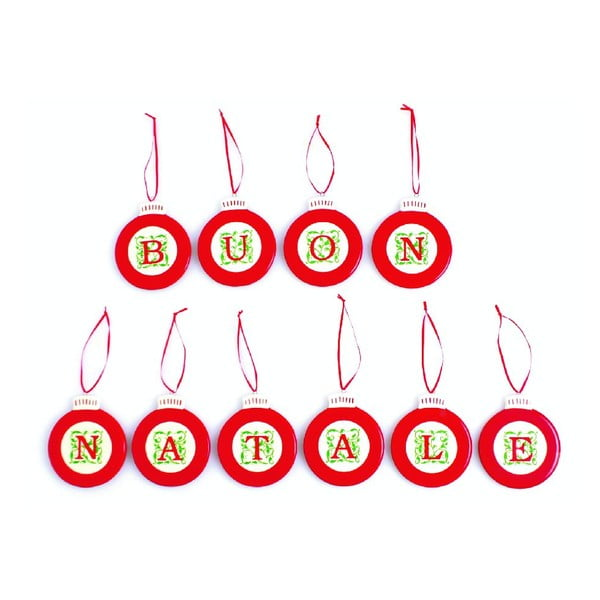 Set vánočních ozdob Buon Natale