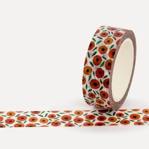 Washi páska U Studio Design Apricots, délka 4 m