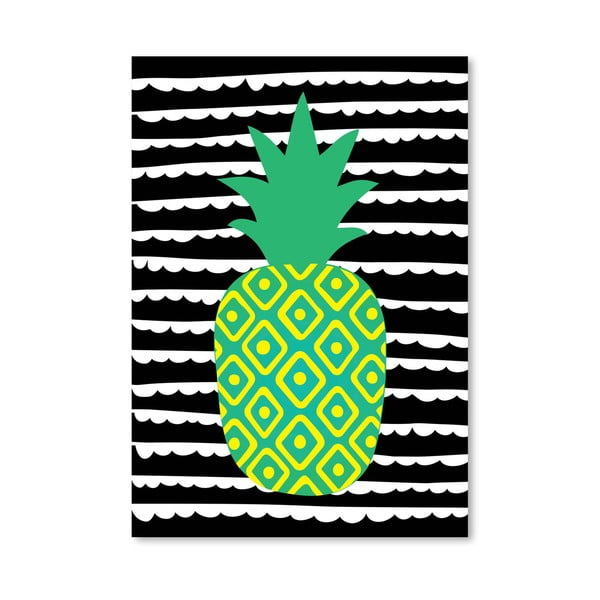 Plakát Striped Pineapple