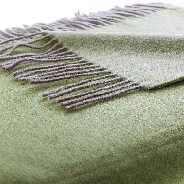 Vlněný pléd Rialto 130x180 cm, zelený