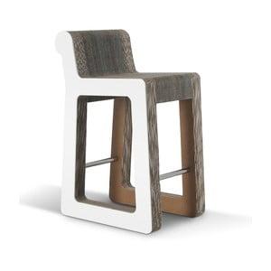 Barová kartonová židle Knob Stool White