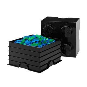 Černý úložný box čtverec LEGO®