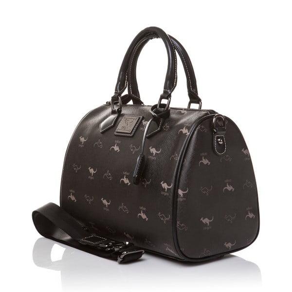 Kožená kabelka do ruky Canguru Kangaroo, černá