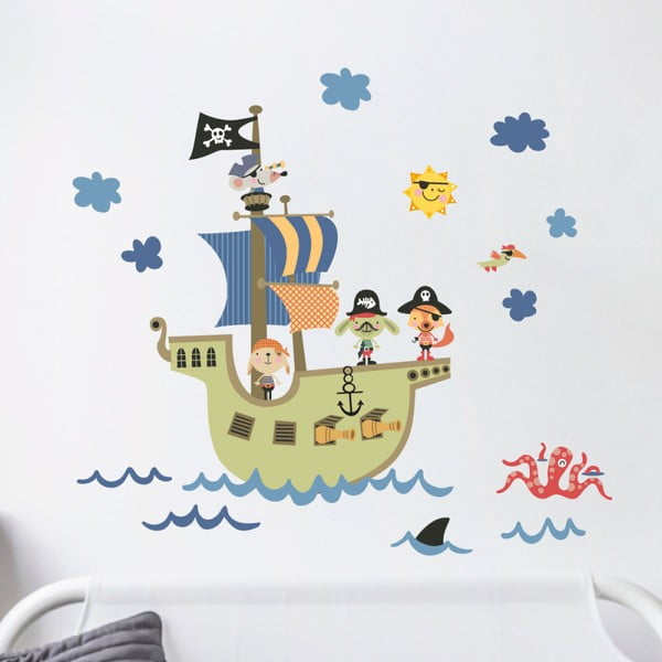 Nástěnné dětské samolepky Ambiance Pirate Ship