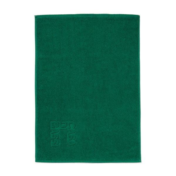 Zelená bavlněná koupelnová předložka Casa Di Bassi Logo,50x70cm