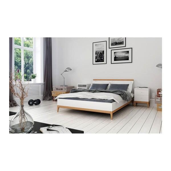 Dvoulůžková postel z masivního borovicového dřeva SKANDICA Livia, 160 x 200 cm