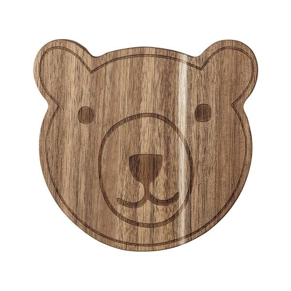 Brązowa deska do krojenia z drewna akacjowego Bloomingville Bear