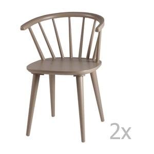 Sada 2 světle šedých jídelních židlí sømcasa Anya