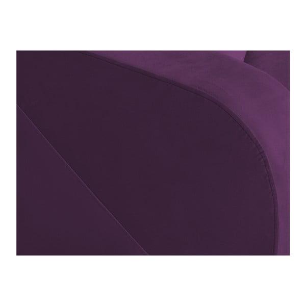 Tmavě fialová třímístná rozkládací pohovka s úložným prostorem Melart Henri