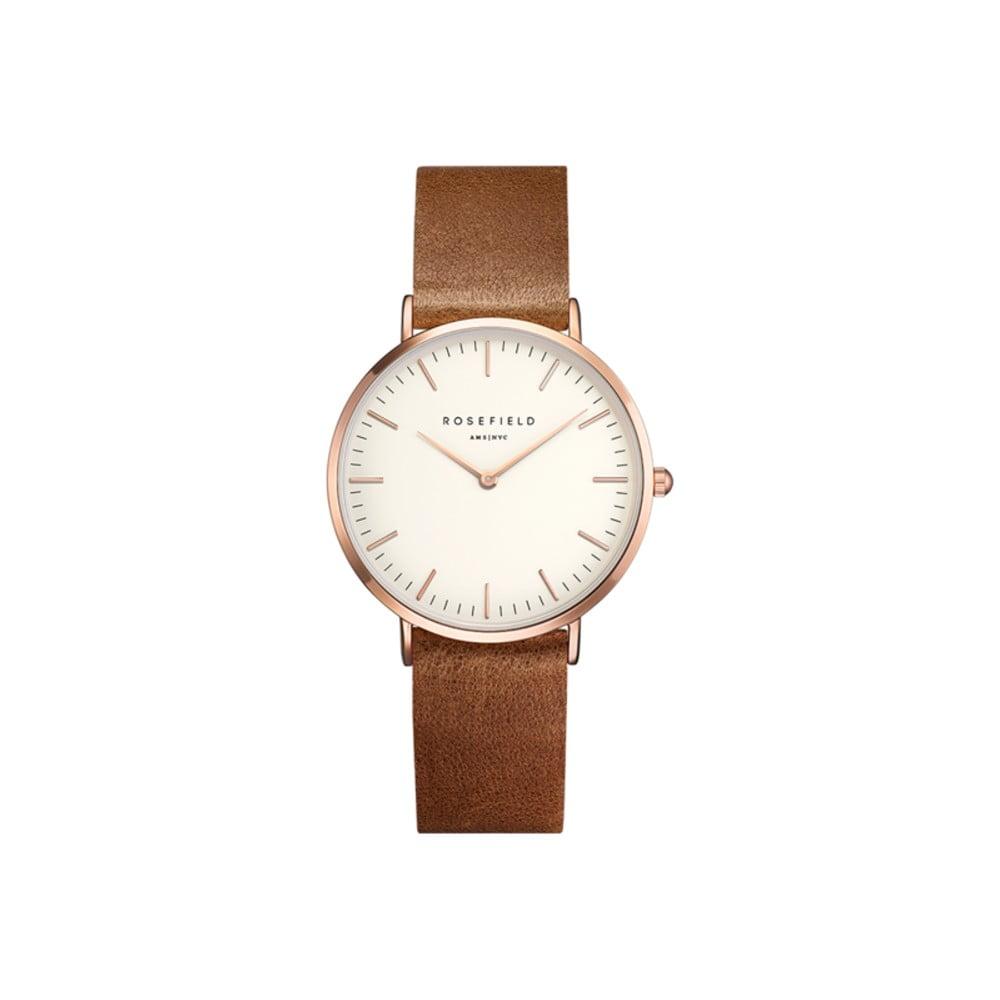 Hnědé dámské hodinky Rosefield The Tribeca