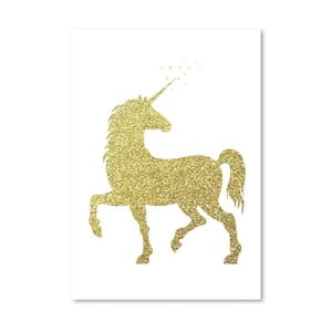 Poster Americanflat Glitter Unicorn, 30 x 42 cm