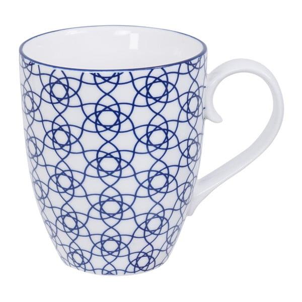 Modro-bílý hrnek Tokyo Design Studio Nippon Elysa, 380 ml