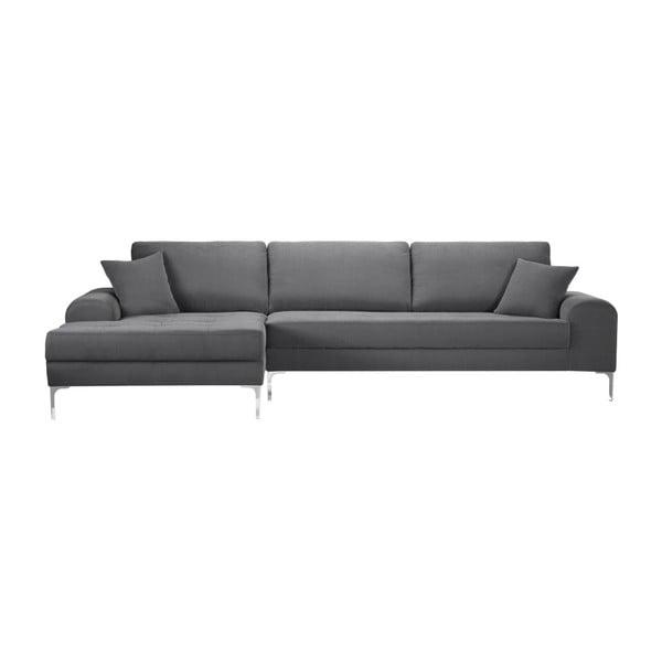 Set canapea gri cu șezut pe partea stângă, 4 scaune crem, o saltea 160 x 200 cm Home Essentials