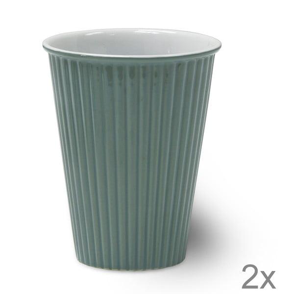 Sada 2 keramických šálků Latte Shutter Blue, 12 cm