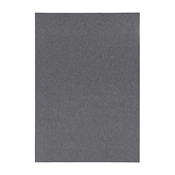 Tmavě šedý běhoun BT Carpet Casual, 80x200cm