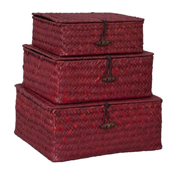 Set 3 boxů Dark Red