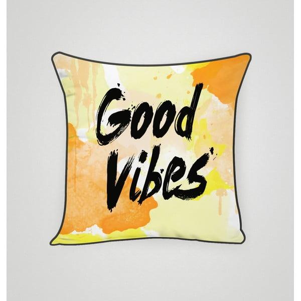 Povlak na polštář Good Vibes, 45x45 cm