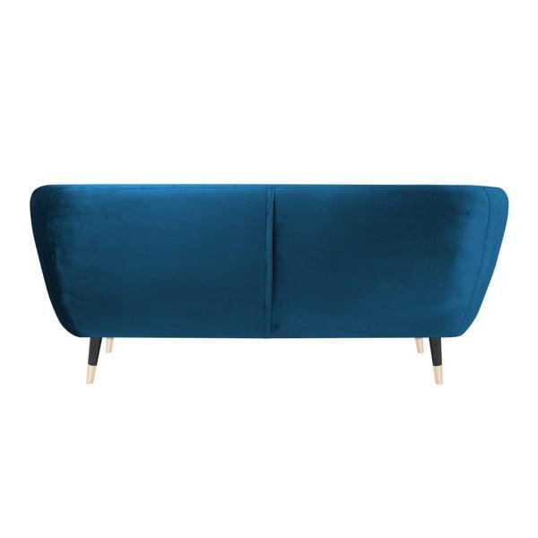 Modrá dvoumístná pohovka s černými nohami Mazzini Sofas Benito