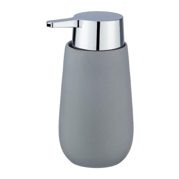 Szary ceramiczny dozownik do mydła Wenko Badi