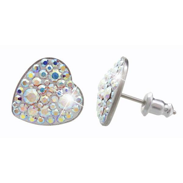 Náušnice s krystaly Swarovski® Yasmine Heart AB