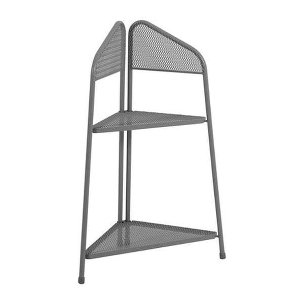 Etajeră metalică pe colț pentru balcon ADDU MWH, înălțime 100 cm, gri închis