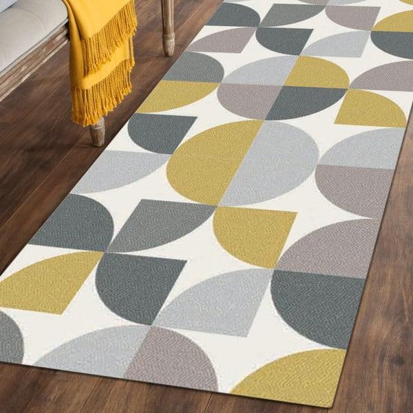 Covor Floorita Seventy Ochre, 60 x 190 cm