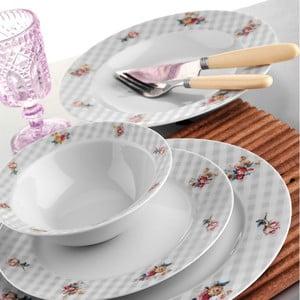 Porcelánový talířový set Jemné kvítí, 24 ks