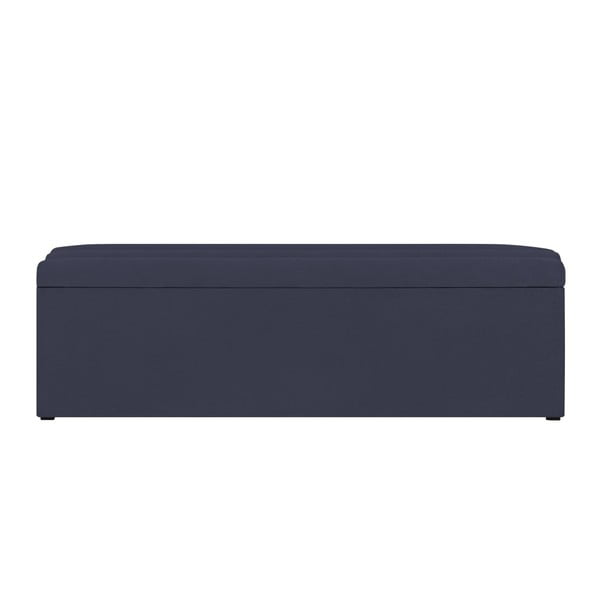 Tmavě modrá lavice s úložným prostorem Cosmopolitan Design Los Angeles, šířka 140cm