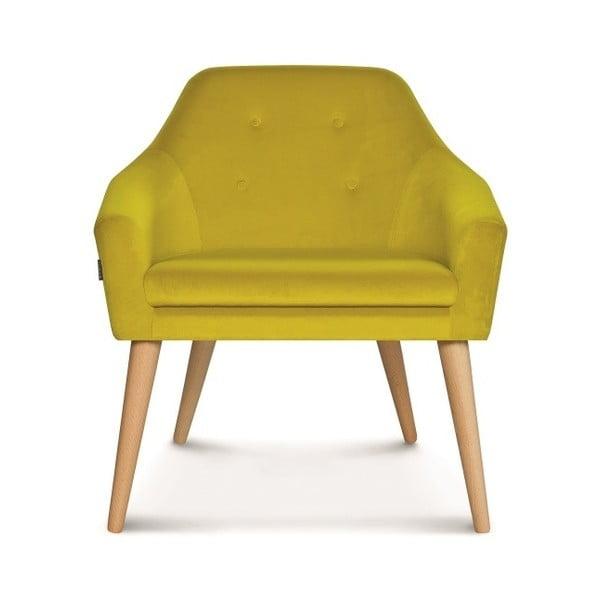 Žlutá jídelní židle Fameg Bendt