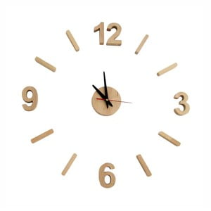 Nástěnné hodiny z olšového dřeva Nørdifra