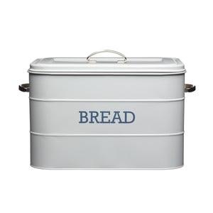 Šedá plechová dóza na chléb Kitchen Craft Bread