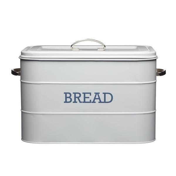 Šedá plechová dóza na chléb Kitchen Craft Nostalgia