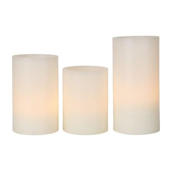 Sada 3 voskových LED svíček Wax