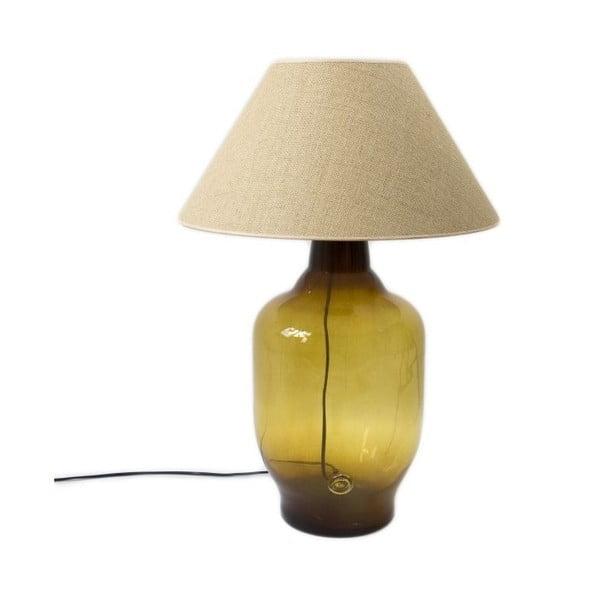 Stolní lampa Glass Classic, olivová