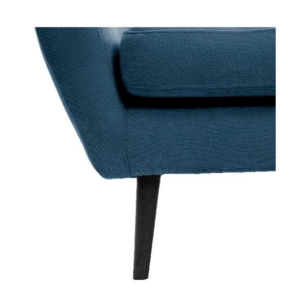 Námořnicky modrá trojmístná pohovka Vivonita Kelly, černé nohy