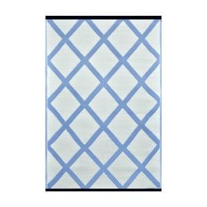 Blankytně modrý oboustranný venkovní koberec Green Decore Diamond, 90 x 150 cm